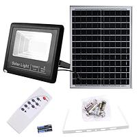Прожектор 9100 100W SMD, IP67, солнечная батарея, пульт ДУ, встроенный аккумулятор, таймер, датчик, фото 1