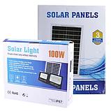 Прожектор 9100 100W SMD, IP67, солнечная батарея, пульт ДУ, встроенный аккумулятор, таймер, датчик, фото 5