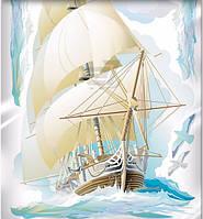 Наклейка, бригантина, корабль, паруса, интерьерная Наш Декупаж