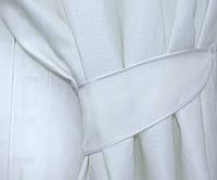 Плотная ткань структурой под лен .  Высота 2.8м. Цвет белый, код 503ш, фото 1