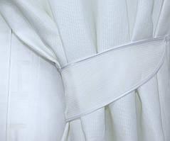 Плотная ткань структурой под лен .  Высота 2.8м. Цвет белый, код 503ш