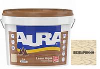 Декоративно-защитное средство для деревянных фасадов Aura Lasur aqua бесцветный 9л.