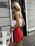 Женский летний костюм: майка и шорты с высокой посадкой, фото 2