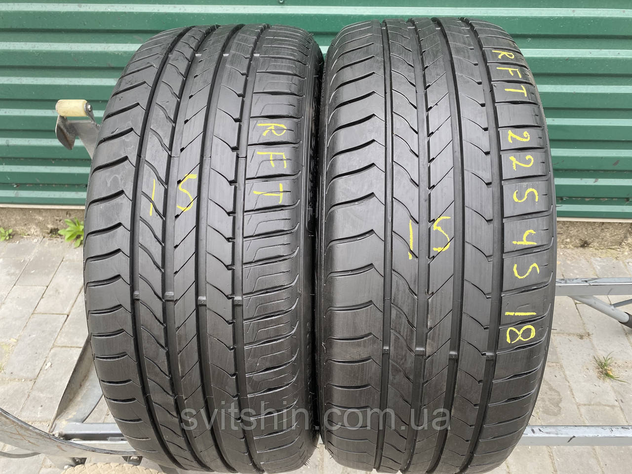 Літні шини 225/45R18 GoodYear EfficientGrip RFT 7мм (рік 15)