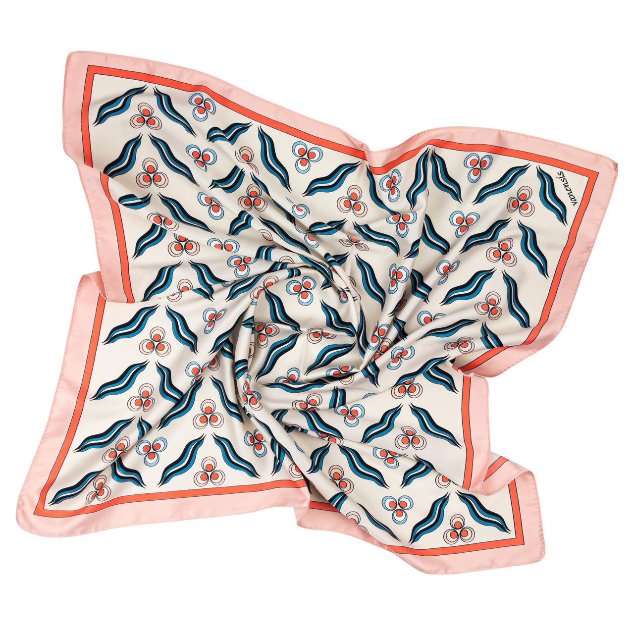 Платок шейный из шелка розовый (Ш-516)