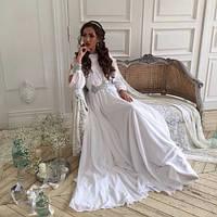 """Длинное платье вечернее """"Злата 4""""белое,платья в пол"""