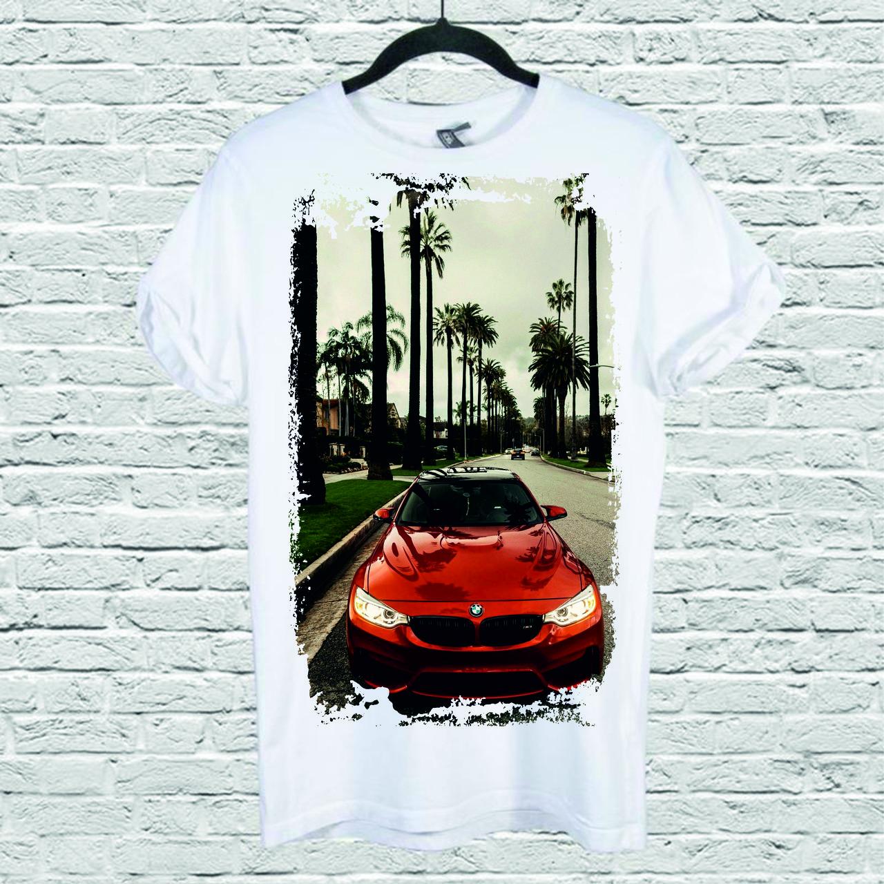 Футболка YOUstyle Car 0228 XXL White