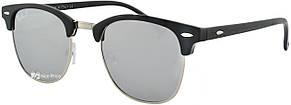 Солнцезащитные очки Ray Ban Clubmaster 3016 C7 Polarized зеркальные (реплика)