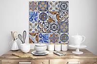 Дизайнерські фотошпалери стиль вінтаж в кухню на стіну Portuguese Vintage Tiles 465 см х 280 см