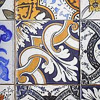 Винтажные обои плитка на стену в кухню Portuguese Vintage Tiles 155 см х 250 см