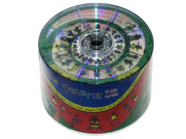 DVD-R 16х 4.7Gb/120min Kaktuz bulk(50)