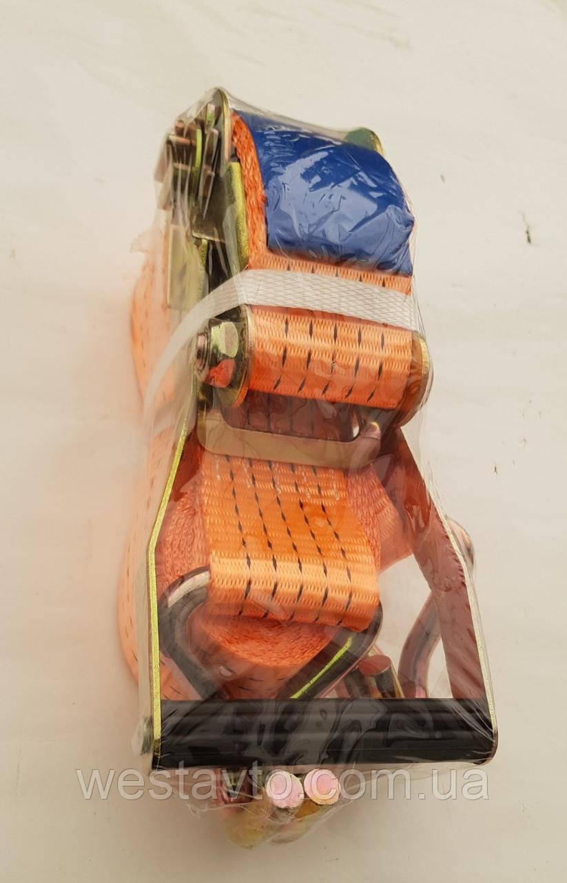 Стяжка вантажу 5 т., 50мм х 6м (0,5+5,5) пластик. ручка