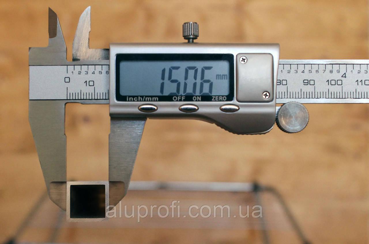 Труба алюминиевая 15х15х1мм АД31 АН15