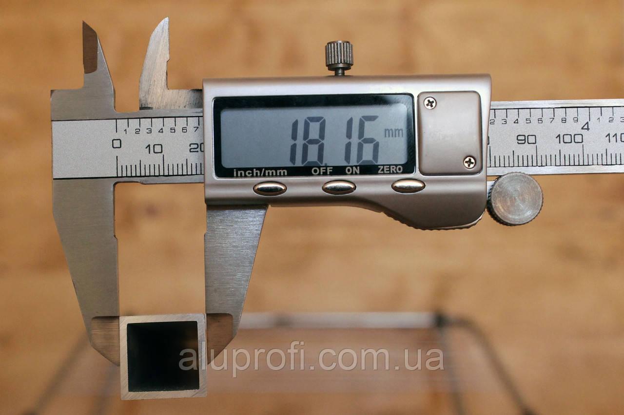 Труба алюминиевая 18х18х1,5мм АД31 Т5