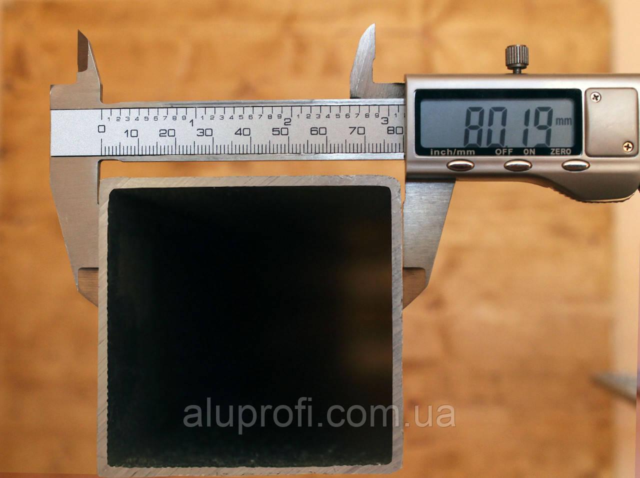 Труба алюминиевая 80х80х6,0мм 6060 Т6