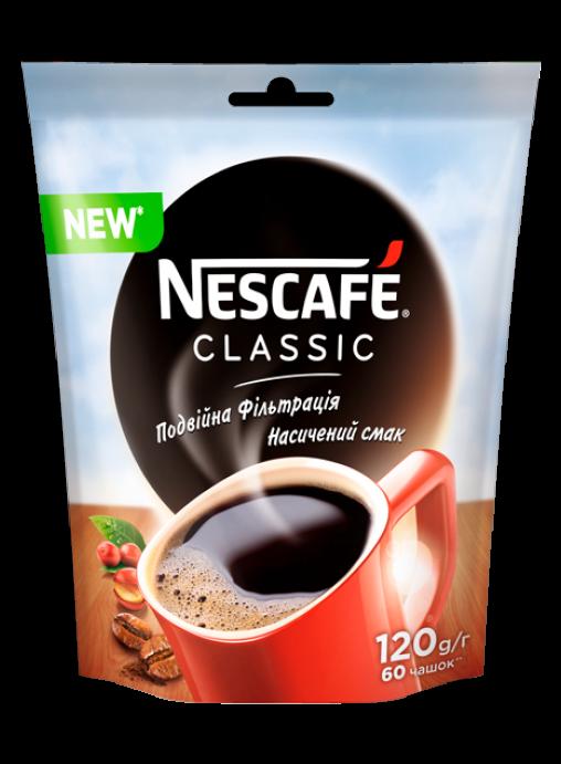 Кофе Классик Нескафе растворимый 120 грамм в мягкой упаковке