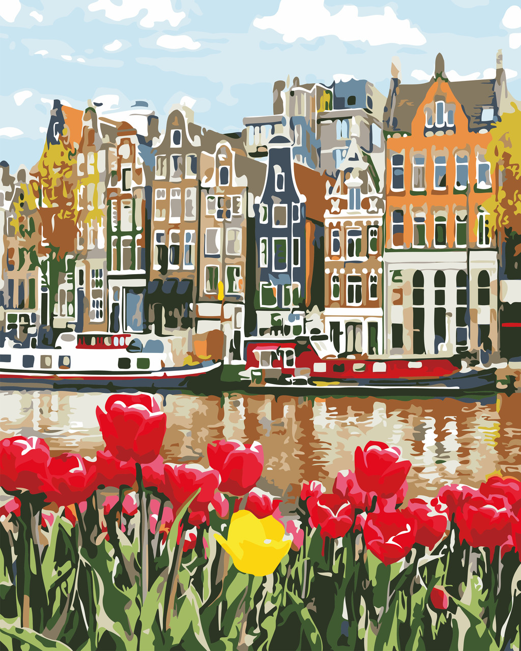 Художественный творческий набор, картина по номерам Нидерланды, 40x50 см, «Art Story» (AS0665)