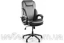 Офісний стілець Barsky Soft Arm black PU SPUb-01, фото 3