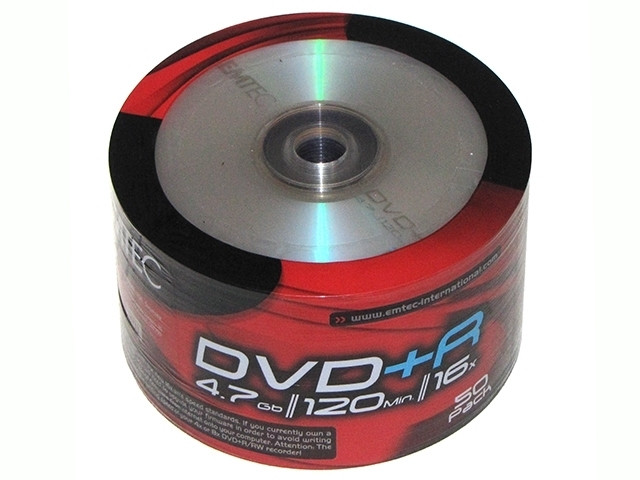 DVD+R 16х 4.7Gb/120min Emtec bulk(50)