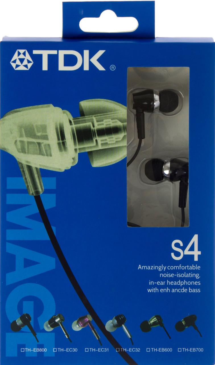 Навушники вакуумні TDK S4 metal black