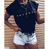 Жіноча трикотажна футболка з віскози, фото 1