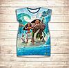 Платье-туника 3D для девушек Моана и Мауи. победа