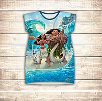 Платье-туника 3D для девушек Моана и Мауи. победа, фото 1