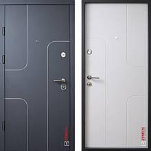 Дверь входная металлическая ZIMEN Skay, Optima Plus, Kale, Графит мат / Белая, 850х2050, левая