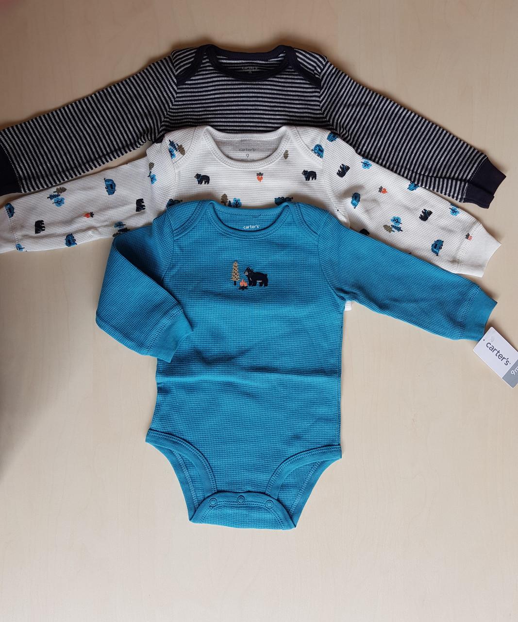 Carters Набор из 3х боди для мальчика на 9 месяцев
