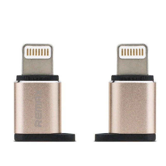 Переходник Remax RA-USB2 Visual microUSB-Lightning Steel (340906)