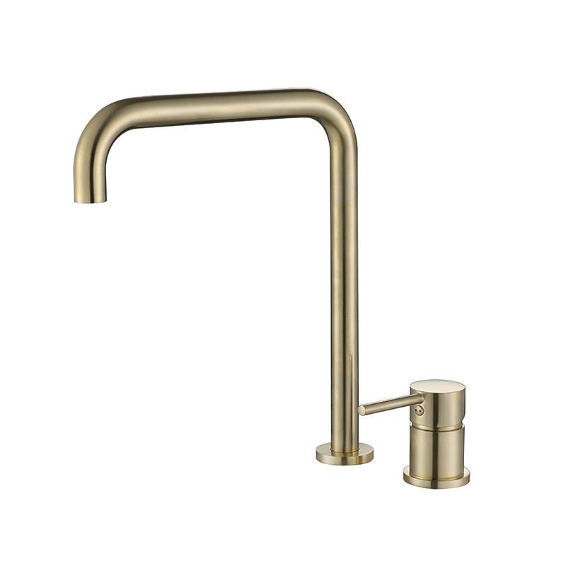 Смеситель для ванной. Модель RD-517 на столешницу Матовое золото