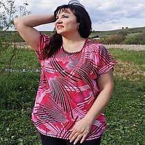 Женские туники-футболки большие размеры с 50 по 64