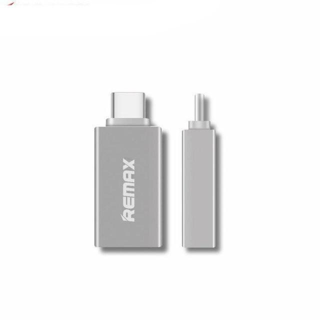 Переходник Remax Transcend RA-OTG USB(F) to Type CM Silver (340907)
