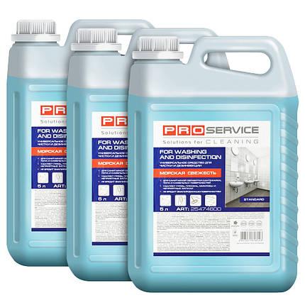 """Білизна-гель засіб для миття та дезінфекції """"Морська свіжість"""" 5л ТМ PRO Service, фото 2"""