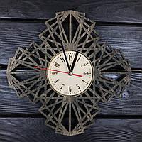 Геометрические настенные часы из дерева, фото 1