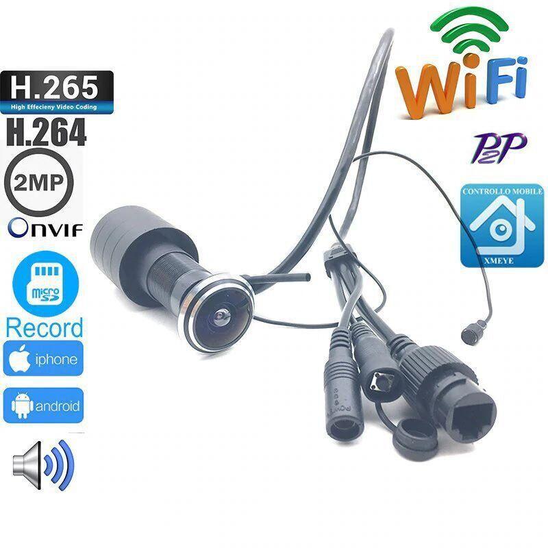 Видеоглазок WiFi с датчиком движения и записью HQCAM D178 2 Мп 1080P A 3