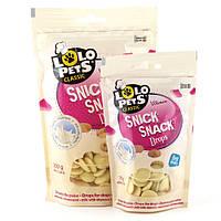Ласощі для собак Lolo Pets Snick Snack Дропси молочні 75г