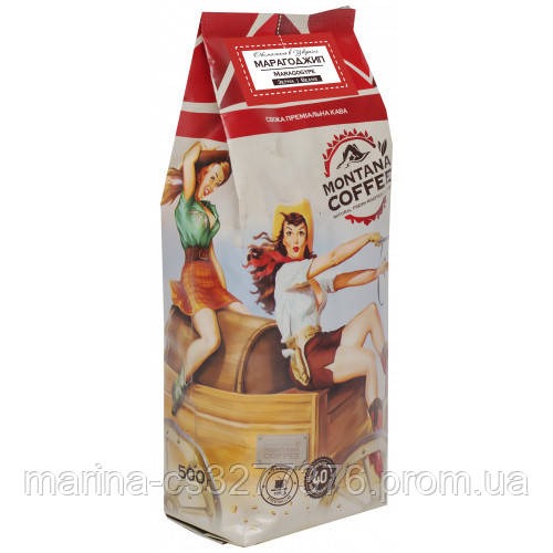 Кофе Марагоджип Никарагуа 500г с кислинкой огромные зерна от фабрики Montana средняя обжарка сегодня!