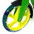 """Двухколёсный самокат AmigoSport """"Glider"""" с ножкой и ручным тормозом, Зелёный, фото 7"""