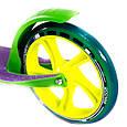 """Двухколёсный самокат AmigoSport """"Glider"""" с ножкой и ручным тормозом, Зелёный, фото 6"""