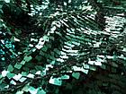 Пайеточная ткань квадрат (зеленый изумруд), фото 2
