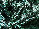 Пайеточная ткань квадрат (зеленый изумруд), фото 3