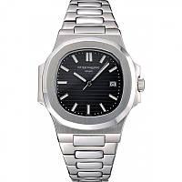 Годинник Patek Philippe Nautilus 41mm silver/black. Replica: ААА., фото 1