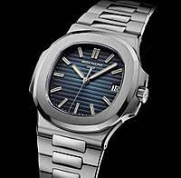 Часы Patek Philippe Nautilus 41mm silver/blue. Replica: ААА., фото 1