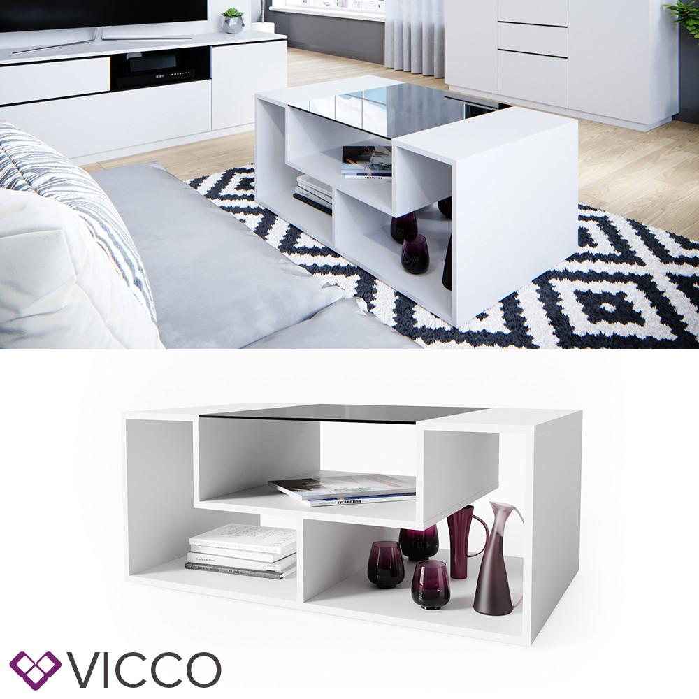 Журнальний столик 100х60 Vicco Gabriel-N, білий
