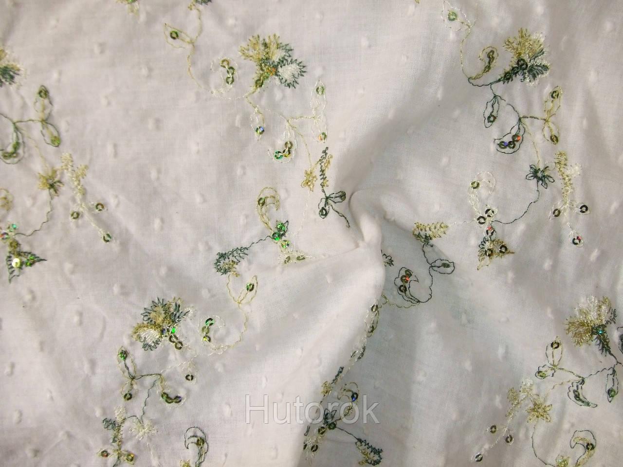 Батист вышивка (белый)