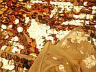 Пайеточная ткань круглая крупная (золото), фото 2