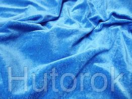 Велюр стрейч (голубой)