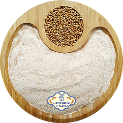 Пшеничне борошно (мука) жорнового помелу цільнозернове (пакет 2 кг.)