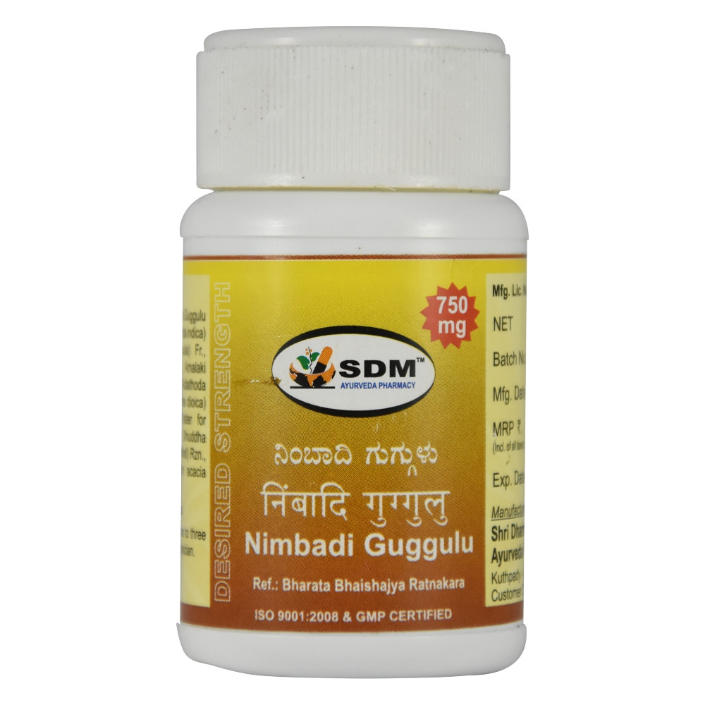 Нимбади Гуггул (Nimbadi Guggulu DS, SDM), 40 таб. по 750 мг